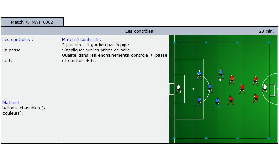 exercice match football 5002