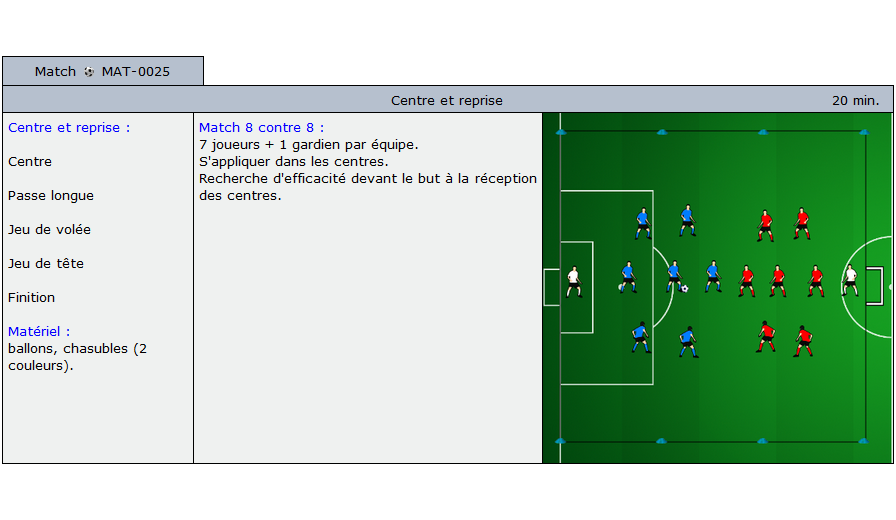 exercice match football 5025