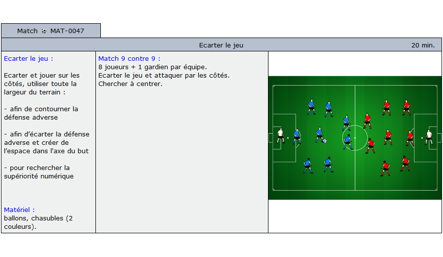 exercice match football 5047